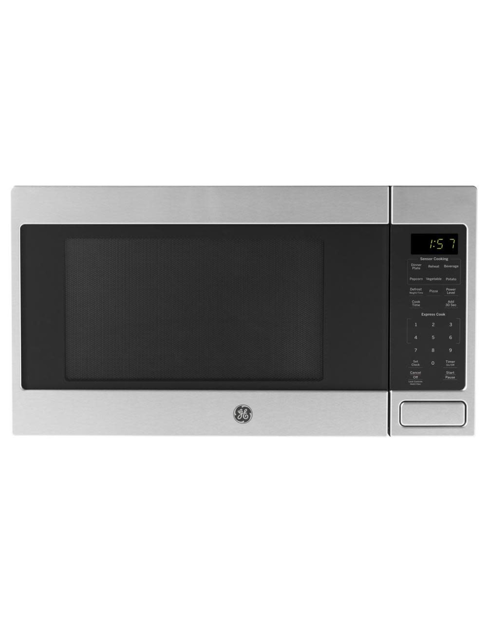 GE JES1657SMSS 1.6 cu. ft. Countertop Microwave in Stainless Steel with Sensor Cooking