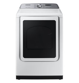 SAMSUNG DVE50R5400W 7.4 cu. ft. White Electric Dryer with Steam Sanitize+