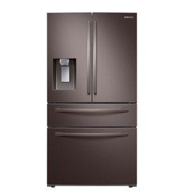 SAMSUNG 23 cu. ft. 4-Door French Door Refrigerator in Fingerprint Resistant Tuscan Stainless, Counter Depth