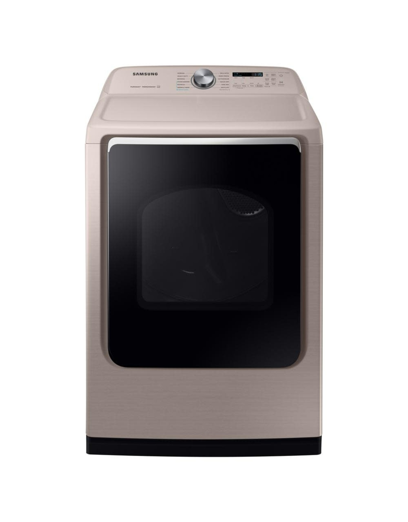 SAMSUNG DVE54R7600C 7.4 cu. ft. Champagne Electric Dryer with Steam Sanitize+, ENERGY STAR