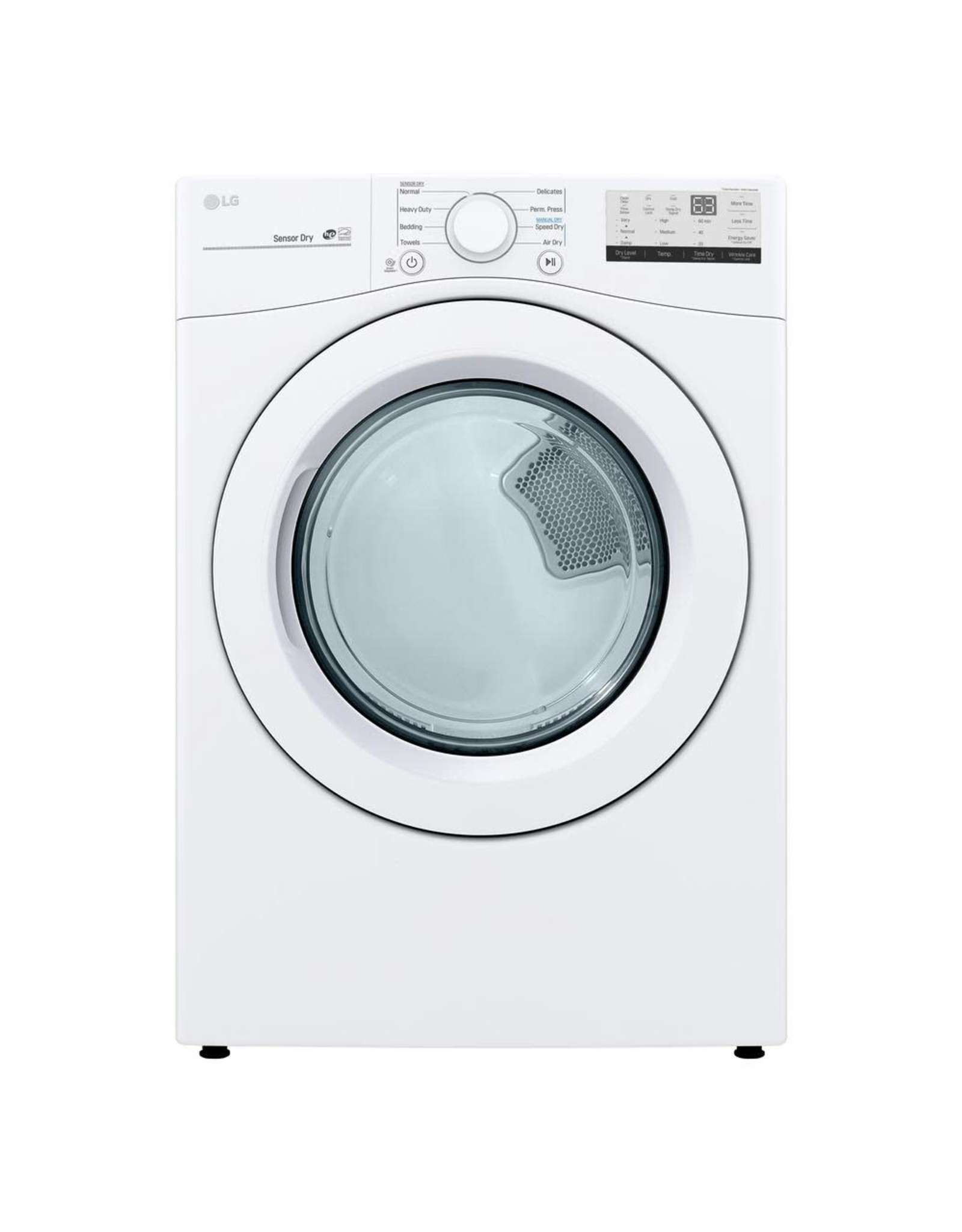 LG Electronics DLE3400W 7.4 cu. ft. Smart White Electric Vented Dryer with Sensor Dry