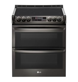 LG Electronics LTE4815BD 7.3 cu. ft. Smart Double Oven Electric Range, Self-Cleaning, Convection and Wi-Fi Enabled in Black Stainless Steel