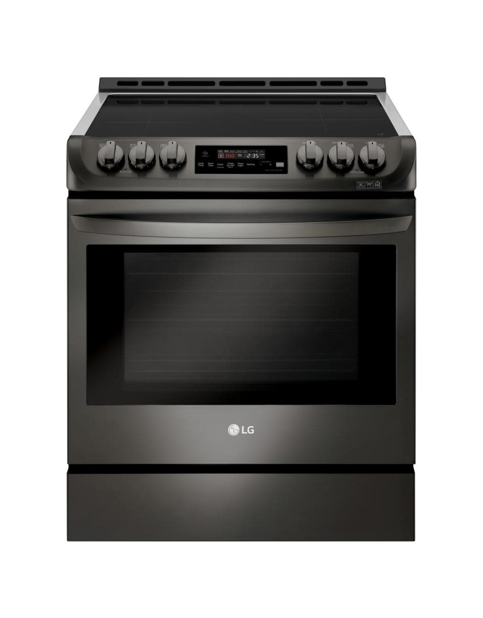 LG Electronics LSE4616BD 6.3 cu. ft. 30 in. Slide-In Electric Smart Range with ProBake Convection, Induction, Self Clean in Black Stainless Steel