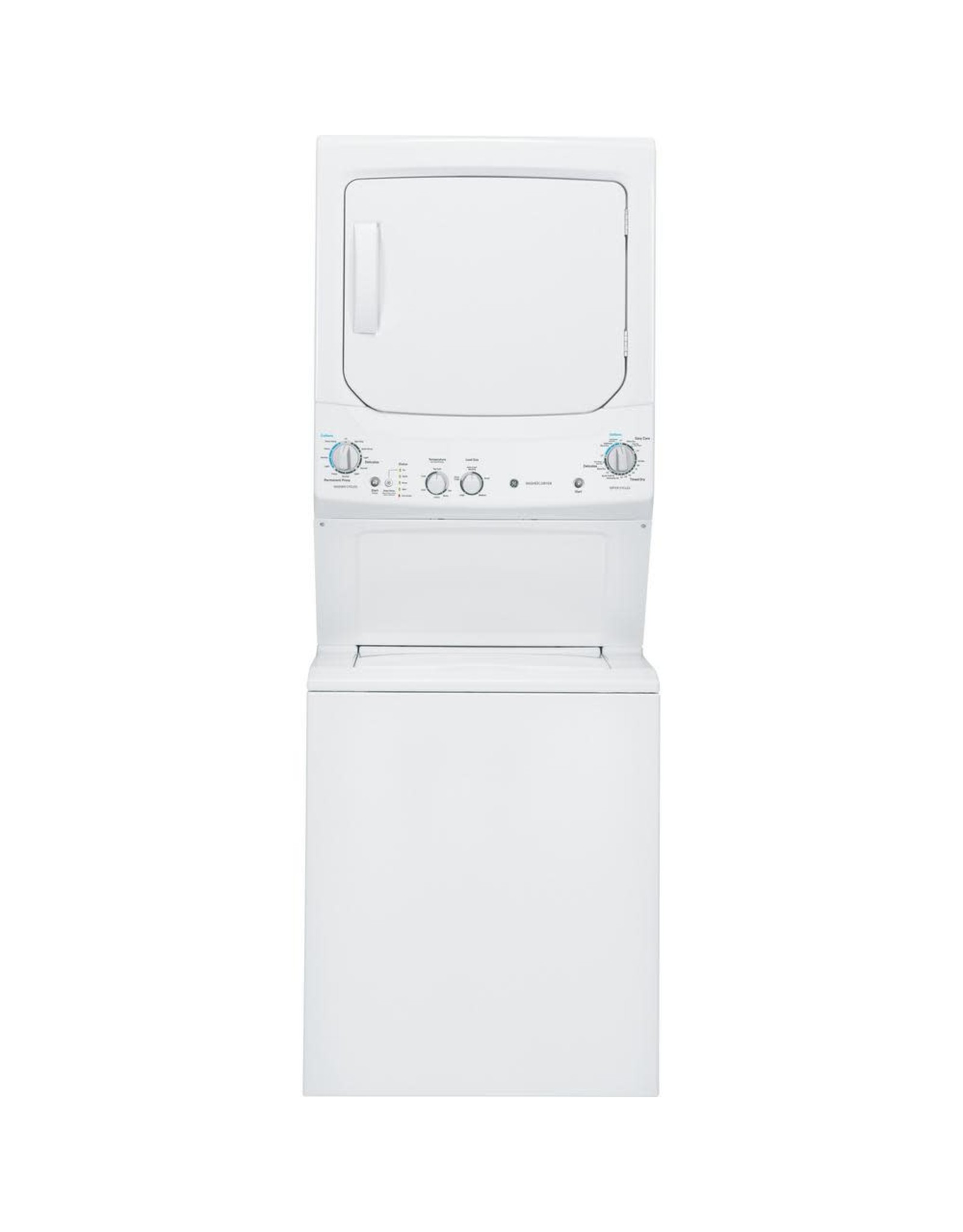 GE GUD27ESSMWW GE White Laundry Center 3.8 cu. ft. Washer and 5.9 cu. ft. 240-Volt Vented Electric Dryer