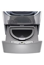 LG Electronics WD100CV 27 in. 1.0 cu. ft. SideKick Pedestal Washer with TWINWash System Compatibility in Graphite Steel
