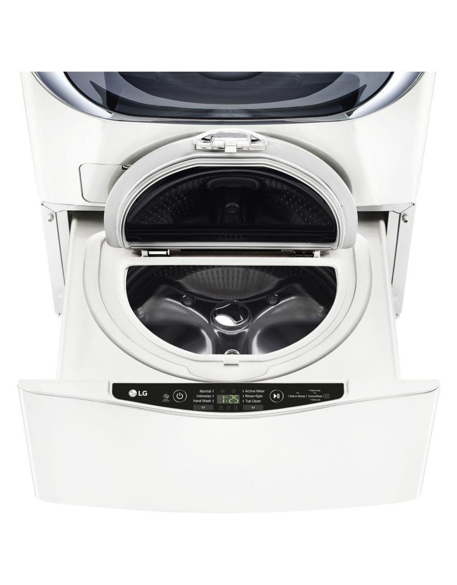 LG Electronics WD100CW 27 in. 1.0 cu. ft. SideKick Pedestal Washer with TWINWash System Compatibility in White