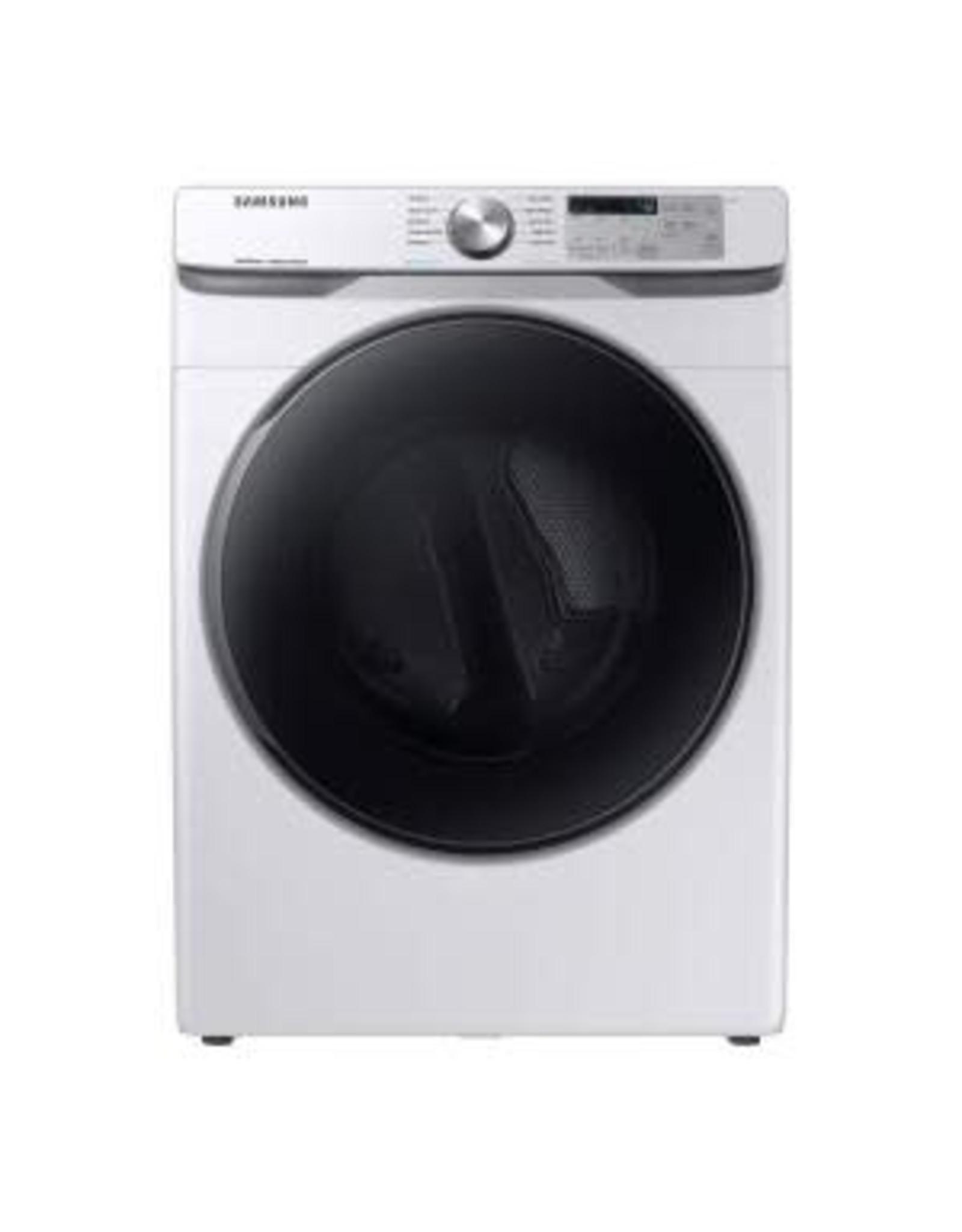 SAMSUNG DVE45R6100W /  016075/ 7.5 cu. ft. White Electric Dryer with Steam