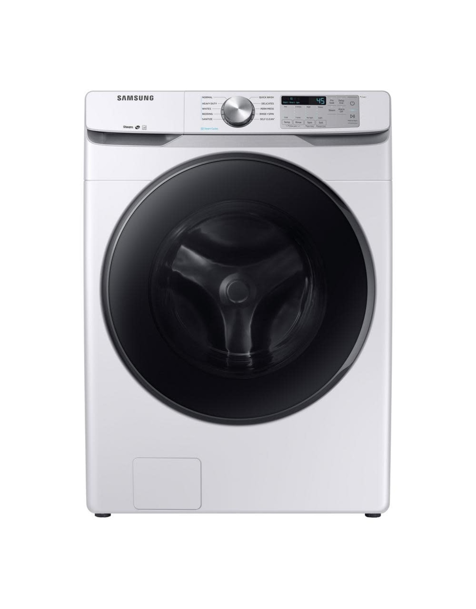 SAMSUNG WF45R6100AW /016136 4.5 cu. ft. High-Efficiency White Front Load Washing Machine with Steam, ENERGY STAR