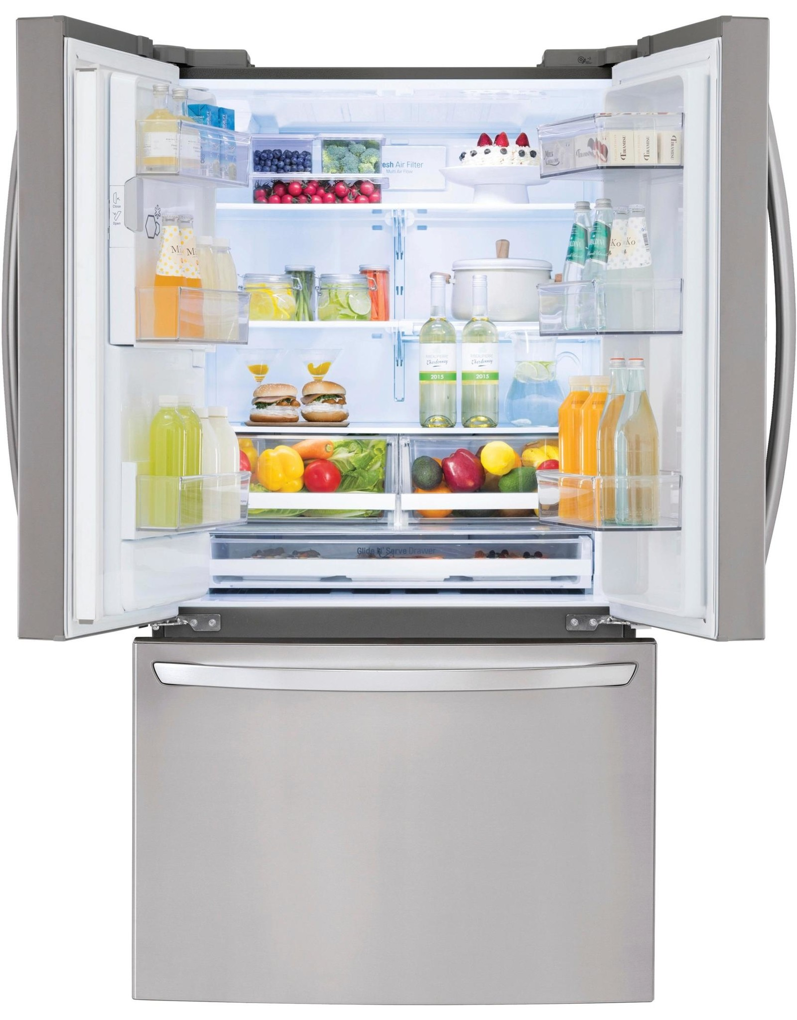 LG Electronics LG Electronics 27.9 cu. ft. French Door Smart Refrigerator with Wi-Fi Enabled in Stainless Steel