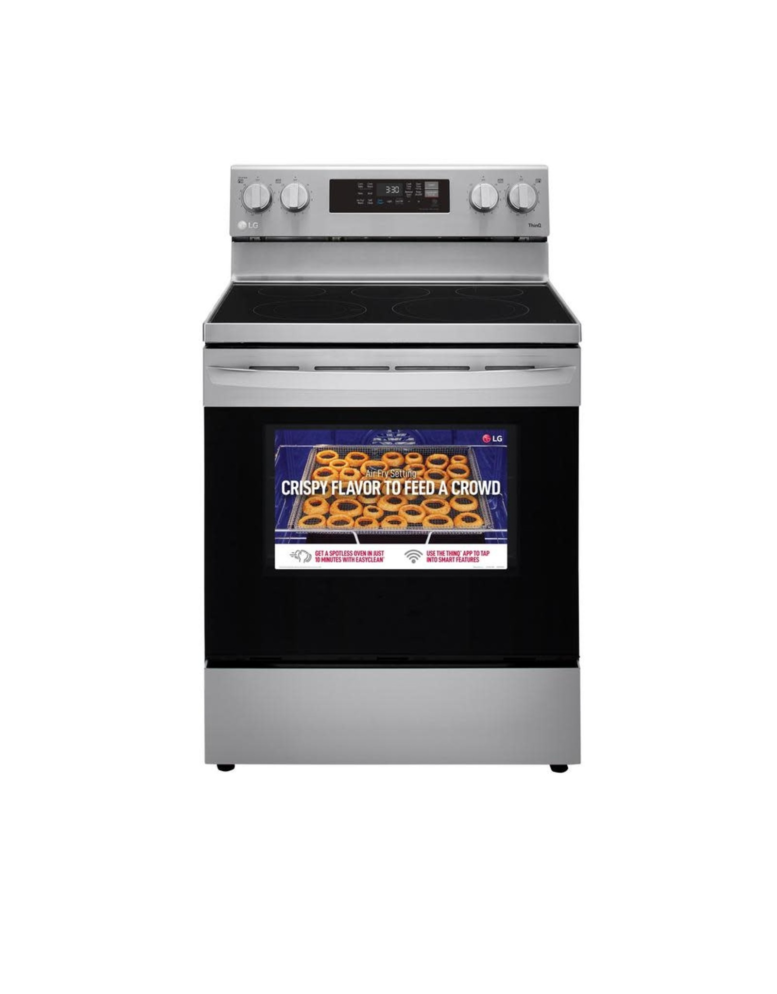LG Electronics LREL6323S 6.3 cu. ft. Smart Wi-Fi Enabled Fan Convection Electric Oven Range with AirFry and EasyClean in Stainless Steel