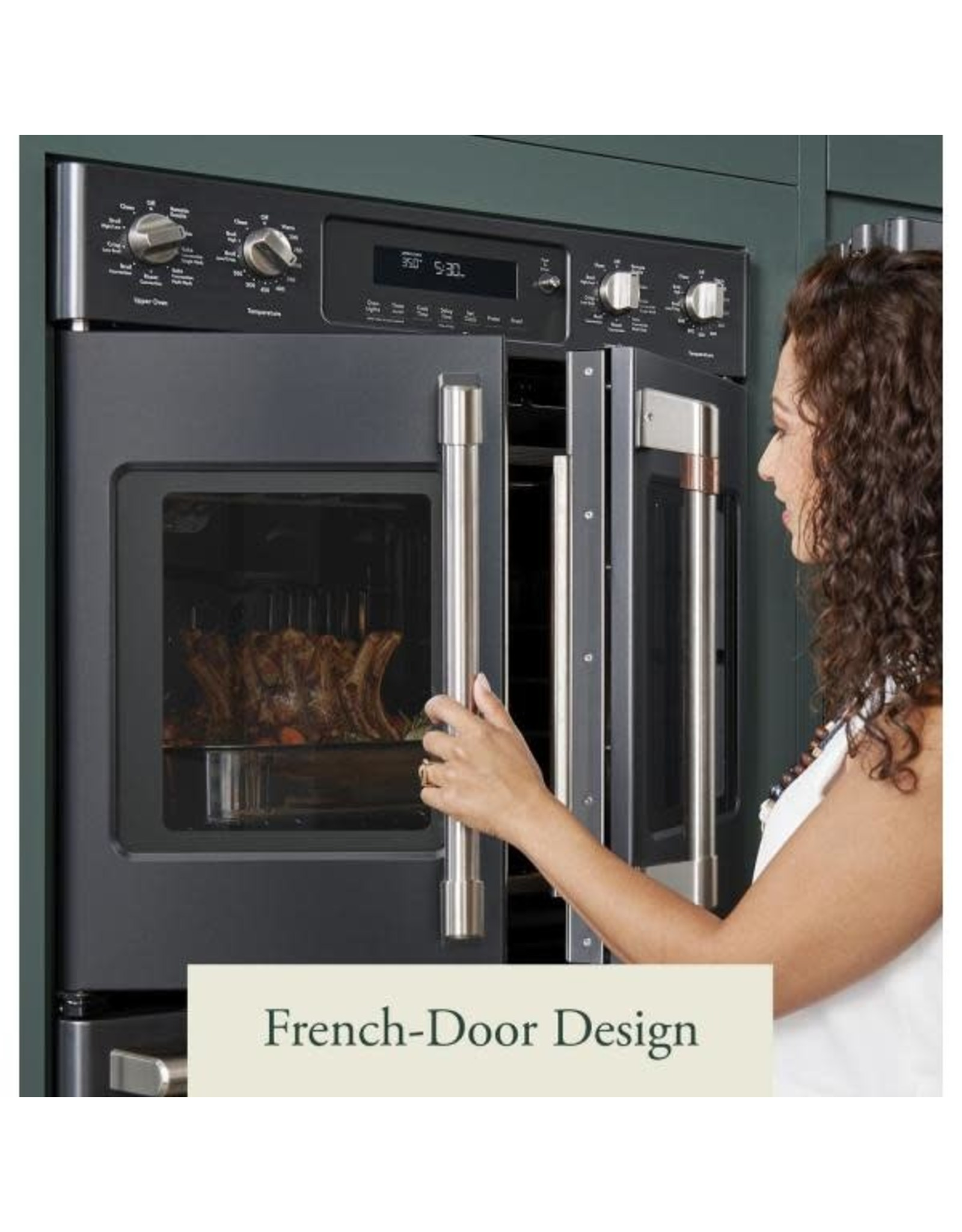 Ctd90fp3md1 30 In Smart Double Electric French Door Wall Oven With Convection Self Cleaning In Matte Black Fingerprint Resistant Black Friday
