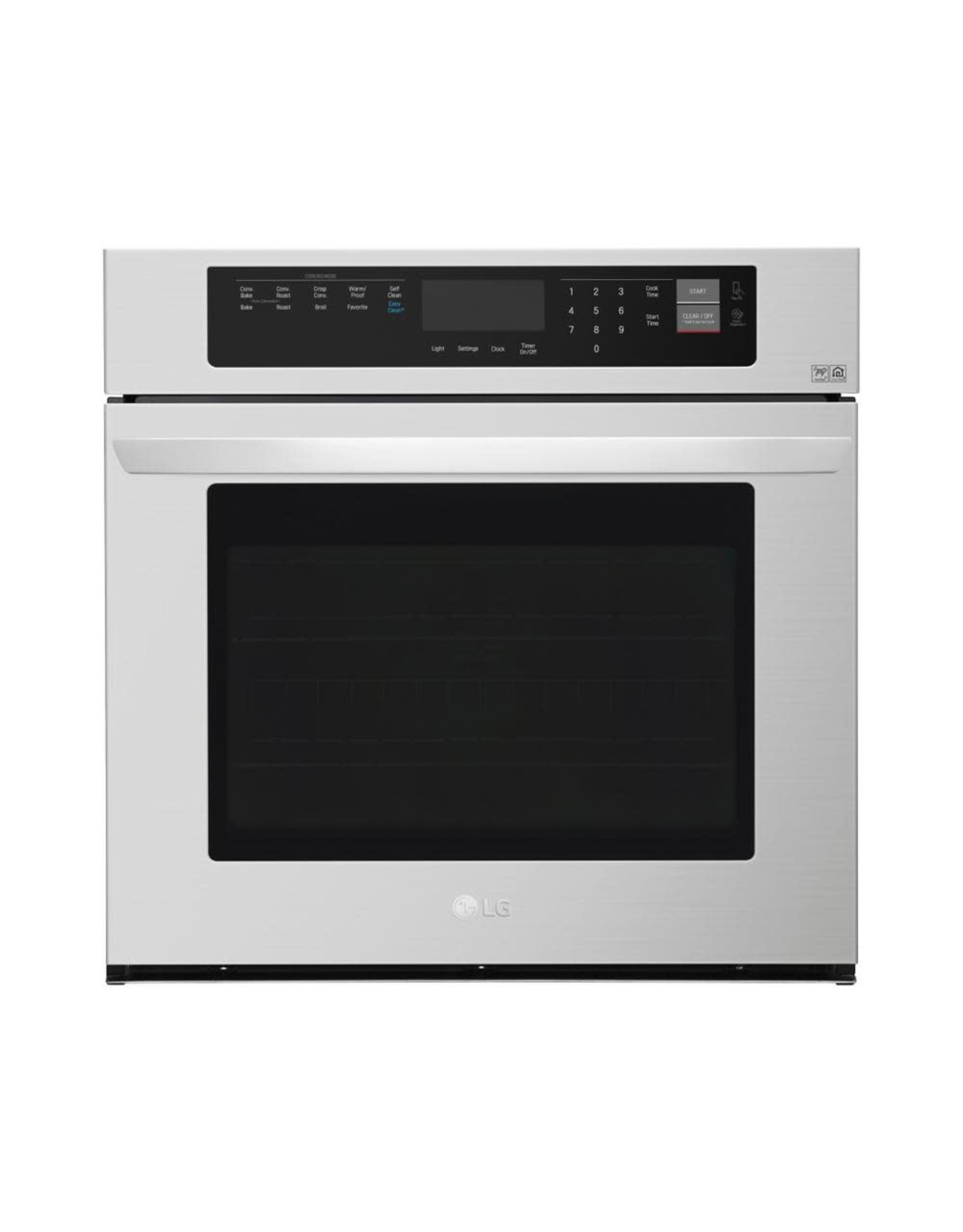 LG Electronics LWS3063ST 30 in. Single Electric Wall Oven with Convection and EasyClean in Stainless Steel