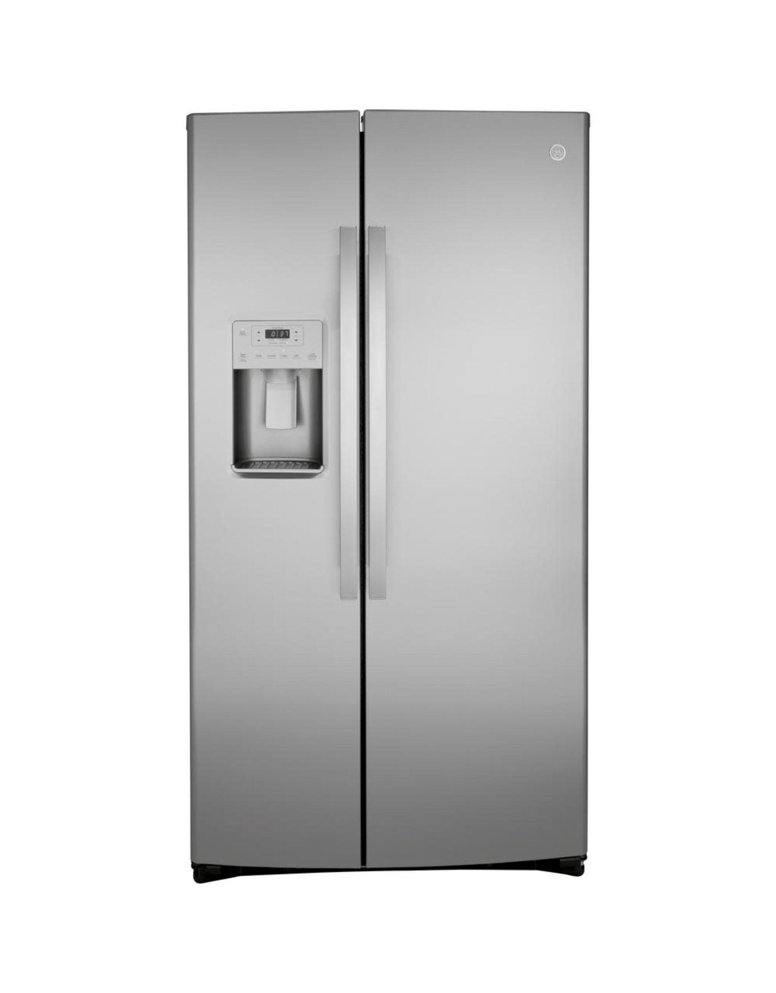 GE 25.1 cu. ft. Side by Side Refrigerator in Fingerprint Resistant Stainless Steel