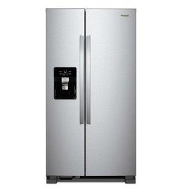 WRS325SDHZ 25 cu. ft. Side by Side Refrigerator in Fingerprint Resistant Stainless Steel