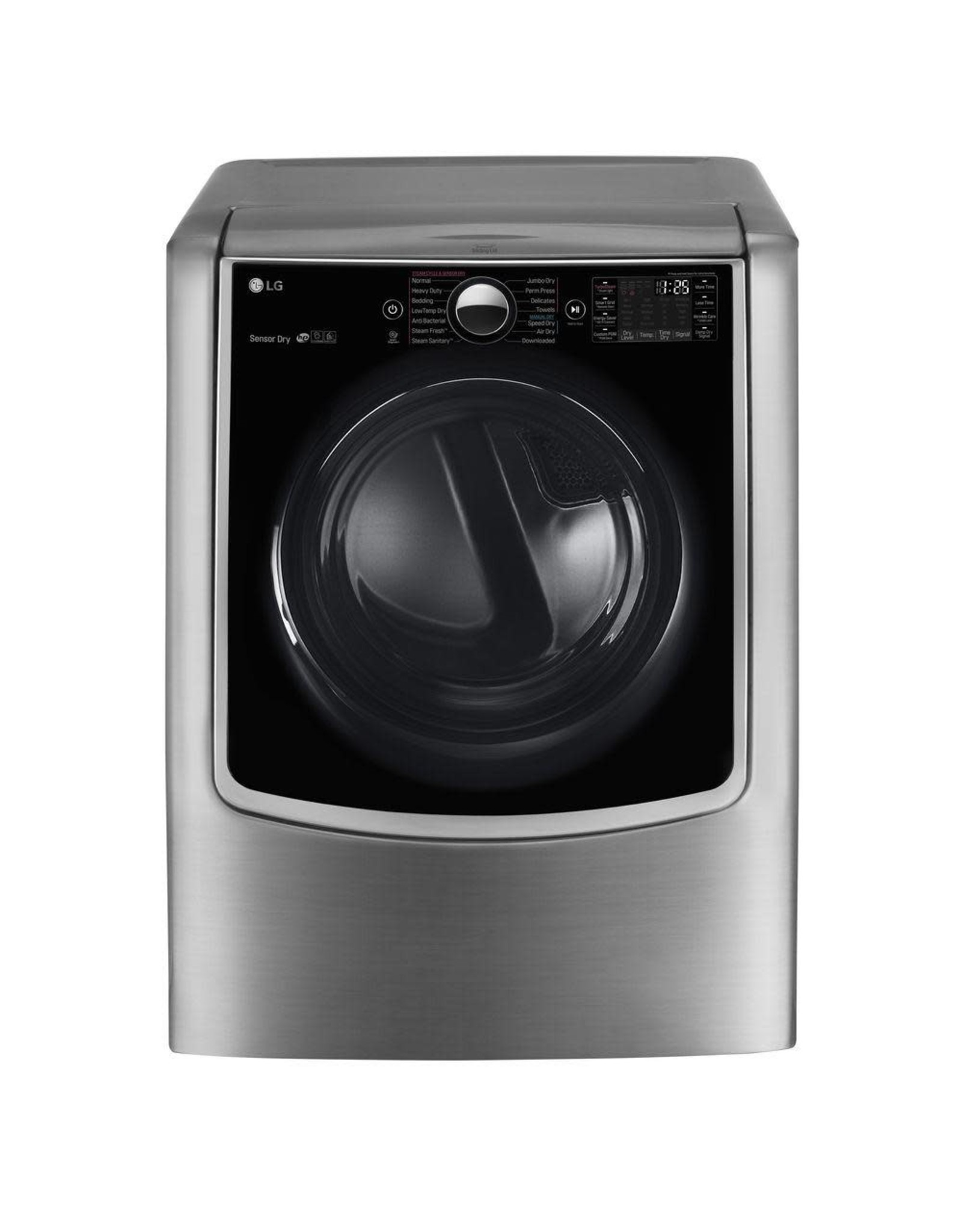 LG Electronics DLEX9000V 9.0 cu. ft. Large Smart Front Load Electric Dryer w/ TurboSteam, Pedestal Compatible & Wi-Fi Enabled in Graphite Steel