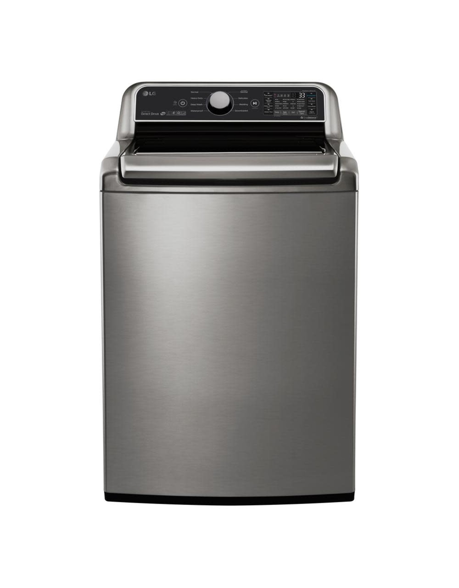LG Electronics WT7300CV 5.0 cu. ft. HE Mega Capacity Smart Top Load Washer w/ TurboWash3D and Wi-Fi Enabled in Graphite Steel, ENERGY STAR
