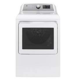 GE GE 7.4 cu. ft. 240-Volt White Electric Vented Dryer with Sanitize Cycle, ENERGY STAR