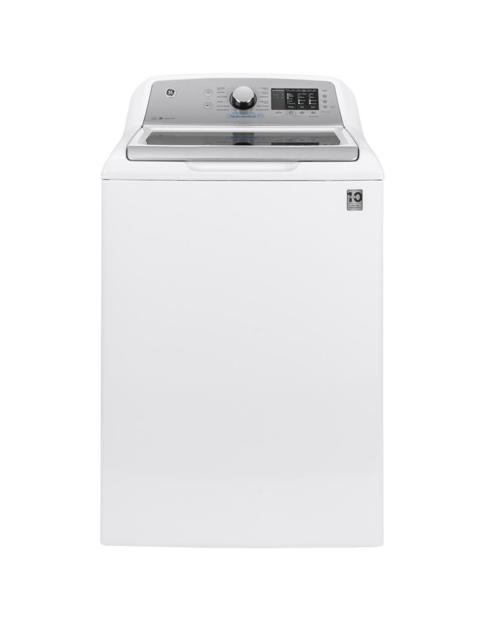 GE GTW720BSNWS 4.8 cu. ft. High-Efficiency White Top Load Washing Machine with FlexDispense and Sanitize with Oxi, ENERGY STAR