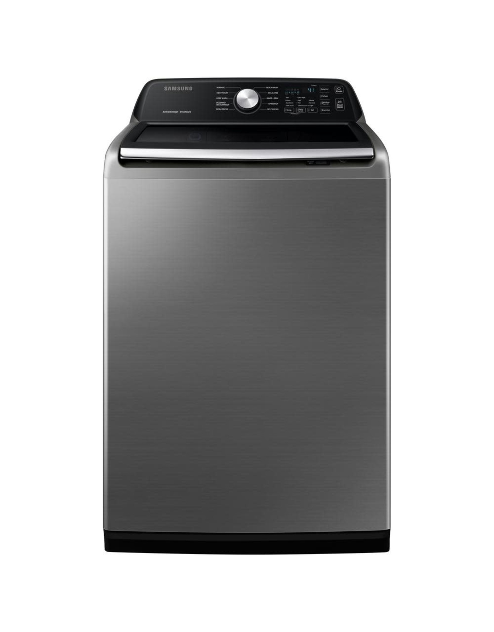 SAMSUNG WA45T3400AP 27 in. 4.5 cu. ft. High-Efficiency Platinum Top Load Washing Machine with Active Water Jet