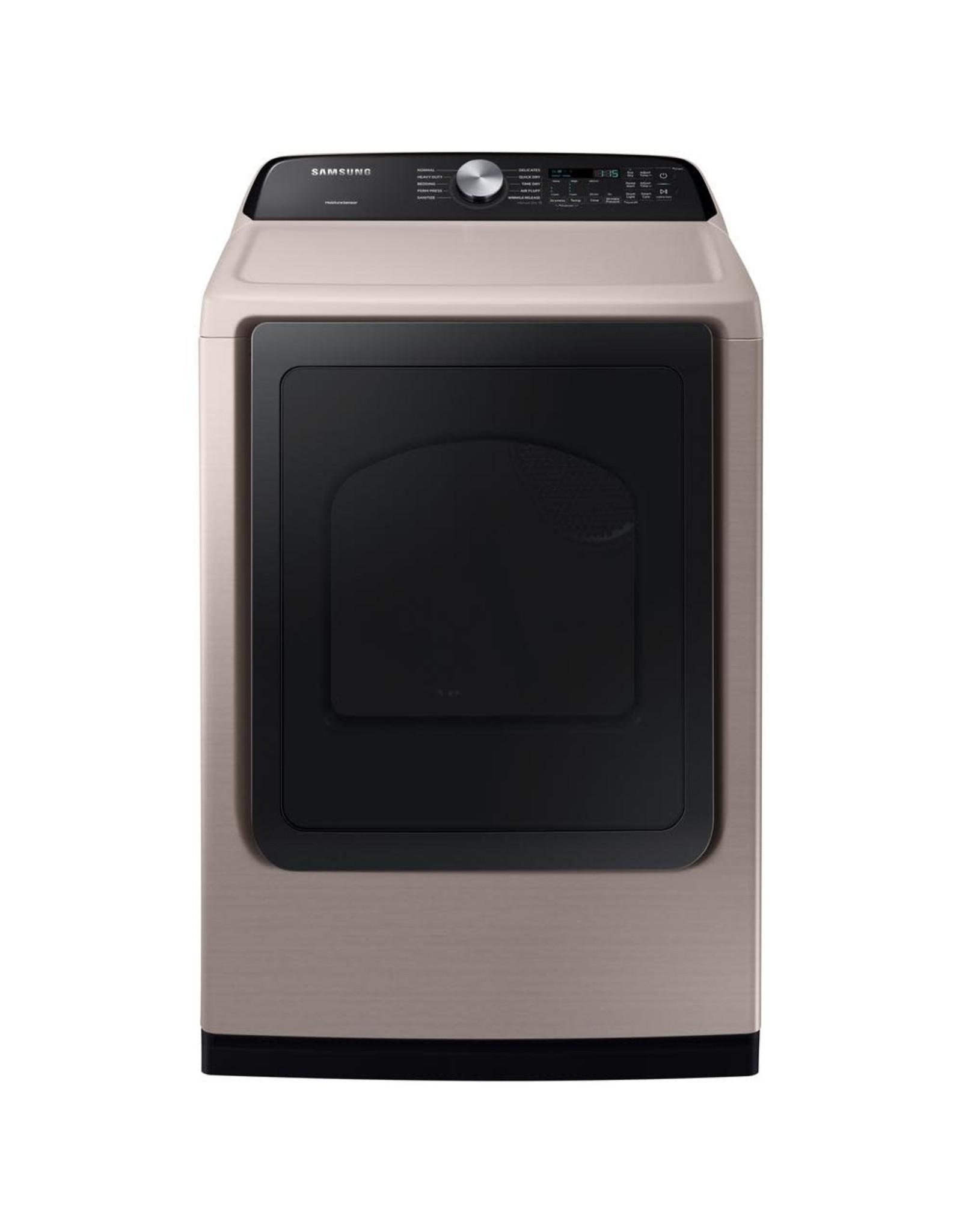 SAMSUNG DVE50T5300C Samsung 7.4 cu. ft. 240-Volt Champagne Electric Dryer with Sensor Dry