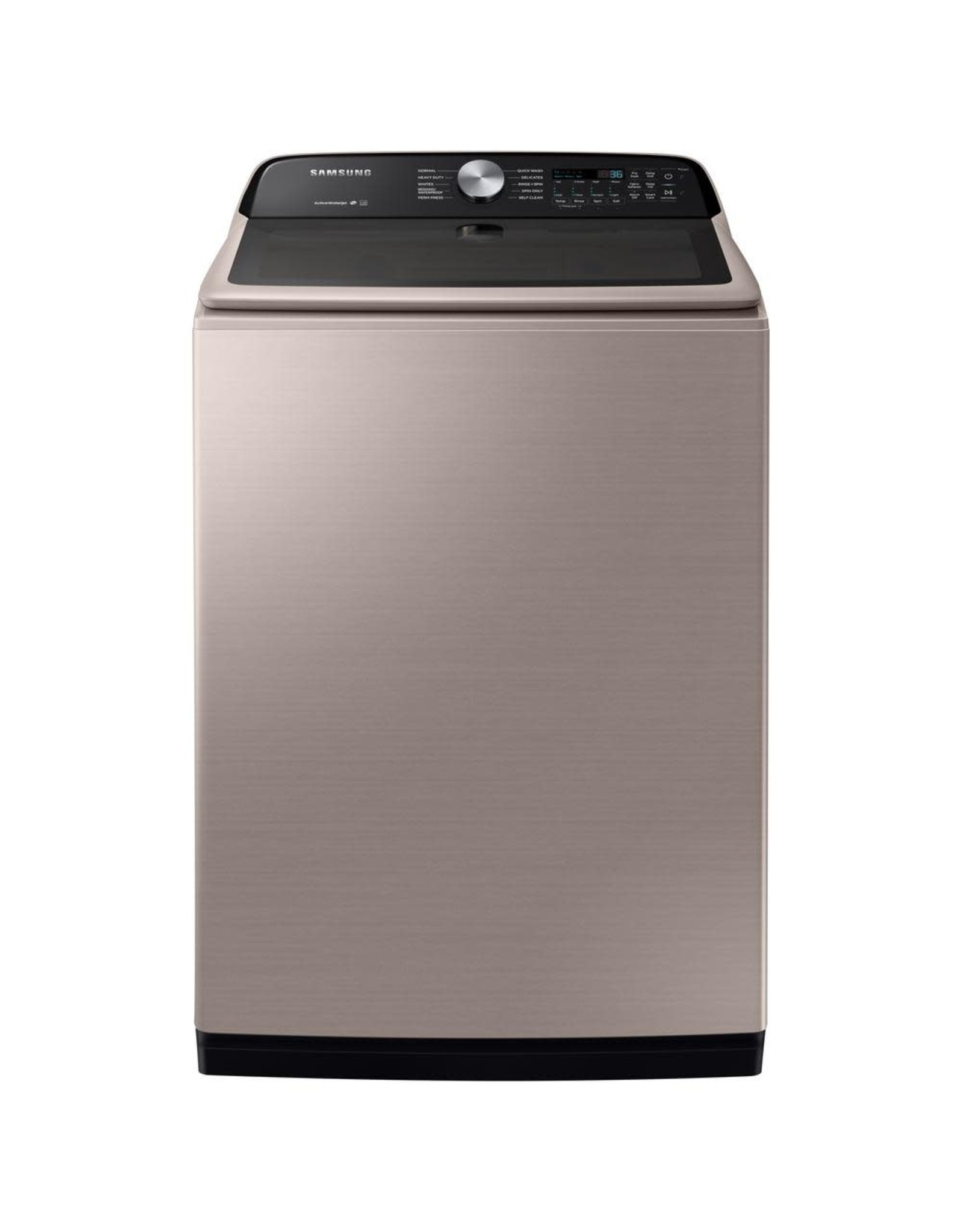 SAMSUNG Samsung 27 in. 5.0 cu. ft. High Efficiency Champagne Top Load Washing Machine with Active Wash Jet, ENERGY STAR
