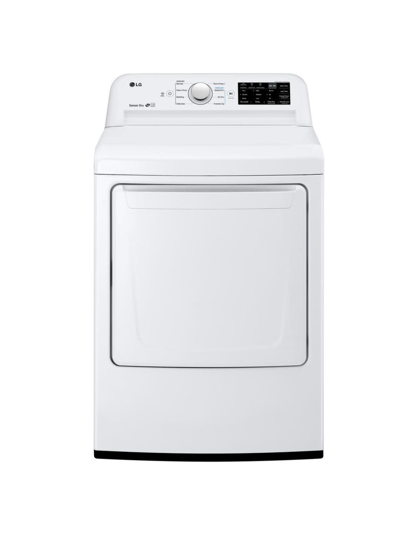 LG Electronics DLE7100W 7.3 cu. ft. Ultra Large HE Front Load Electric Dryer with Sensor Dry and SmartDiagnosis in White, ENERGY STAR