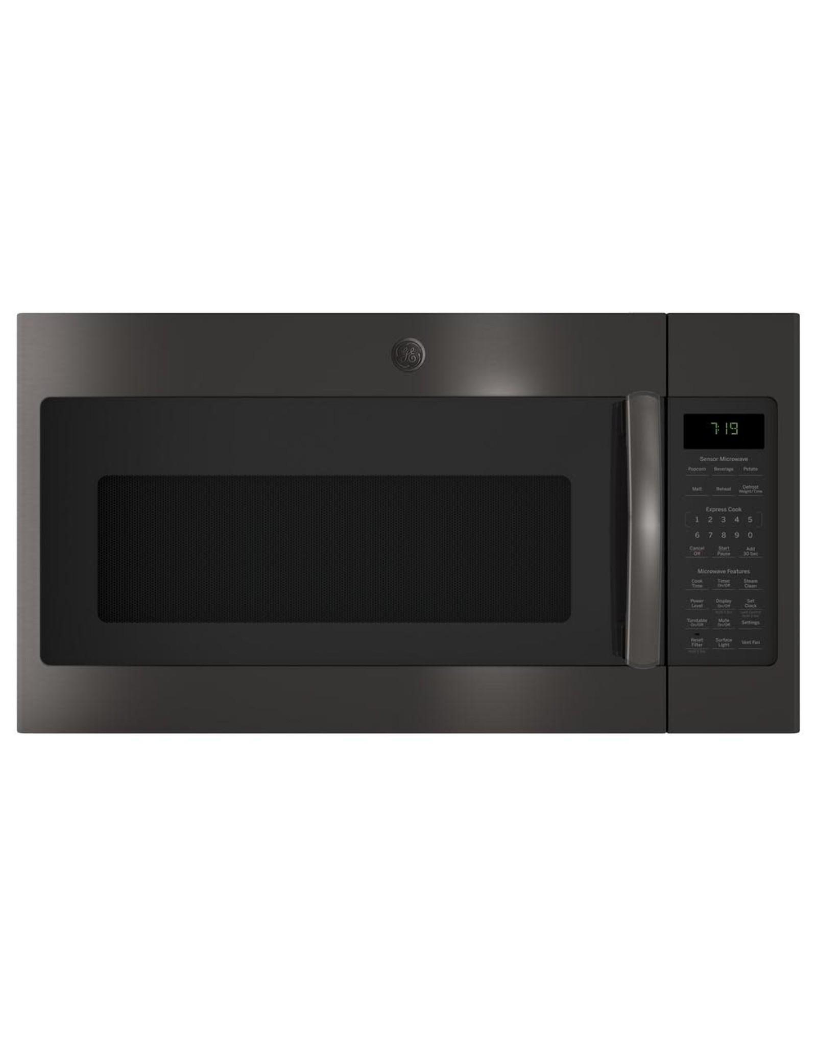 JVM7195BLTS  1.9 cu. ft. Over the Range Microwave in Black Stainless Steel with Sensor Cooking, Fingerprint Resistant