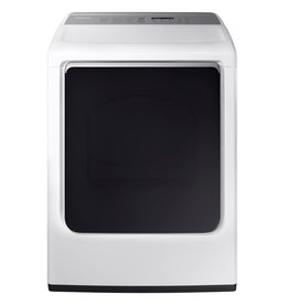 SAMSUNG DVG54M8750W 7.4 cu. ft. Electric Dryer with Steam in White, ENERGY STAR