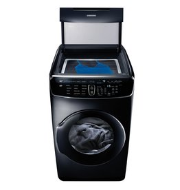SAMSUNG DVG60M9900V 7.5 Total cu. ft. Gas FlexDry Dryer with Steam in Black Stainless