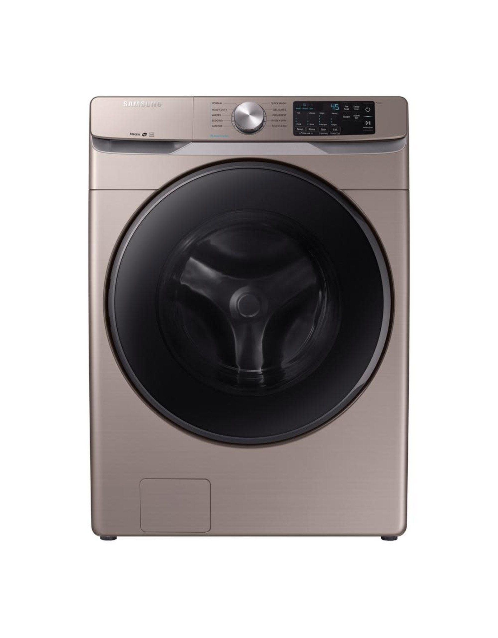 SAMSUNG WF45R6100AC 4.5 cu. ft. High-Efficiency Champagne Front Load Washing Machine with Steam, ENERGY STAR