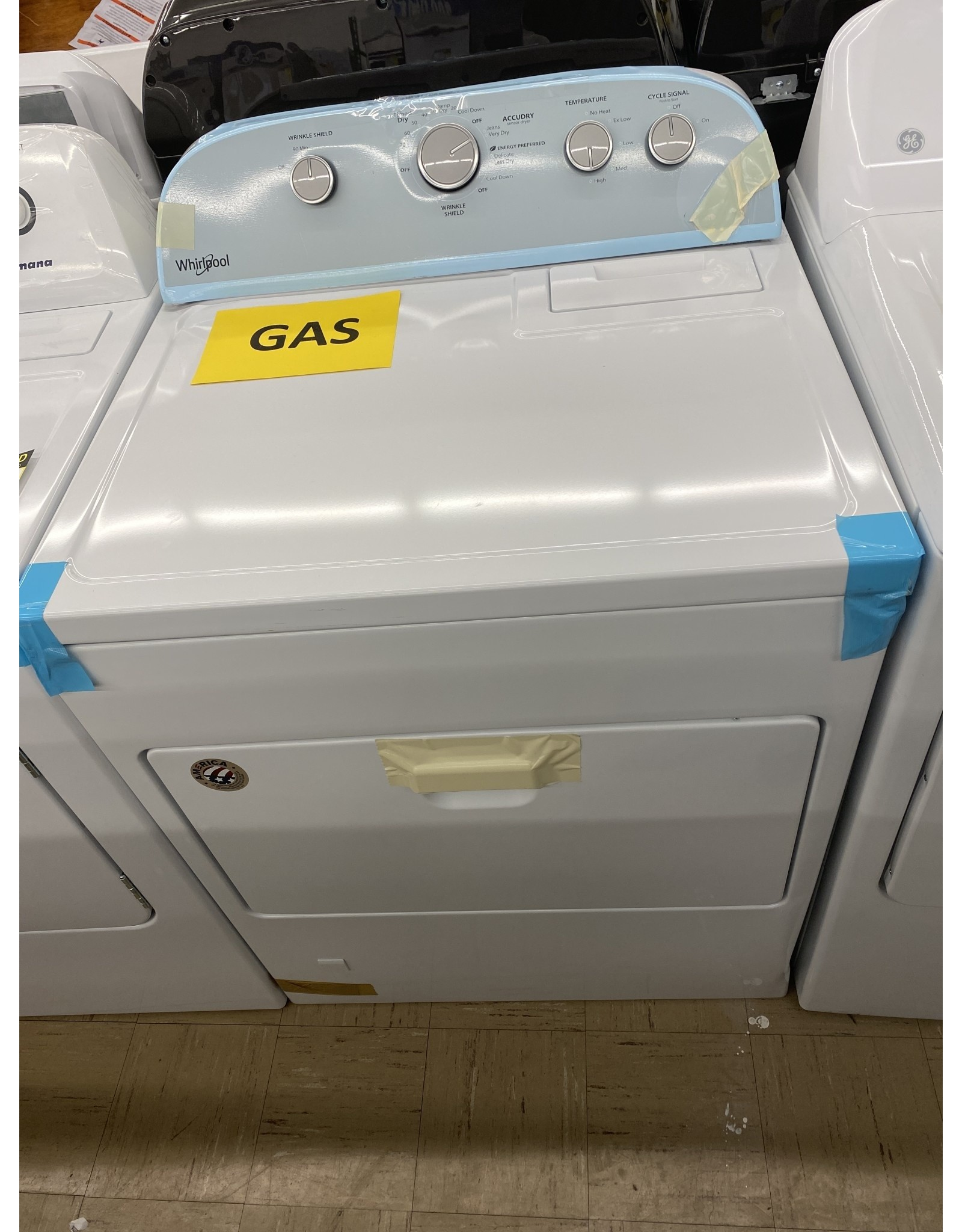 WHIRLPOOL wg05000dw3  7.0 cu. ft. 120-Volt White Gas Vented Dryer with Wrinkle Shield Plus