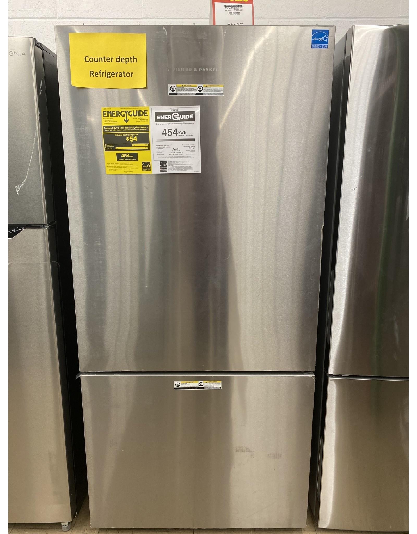 Fisher & Paykel RF170BLPX6 Fisher & Paykel - ActiveSmart 17.5 Cu. Ft. Bottom-Freezer Counter-Depth Refrigerator - Ezkleen Stainless Steel