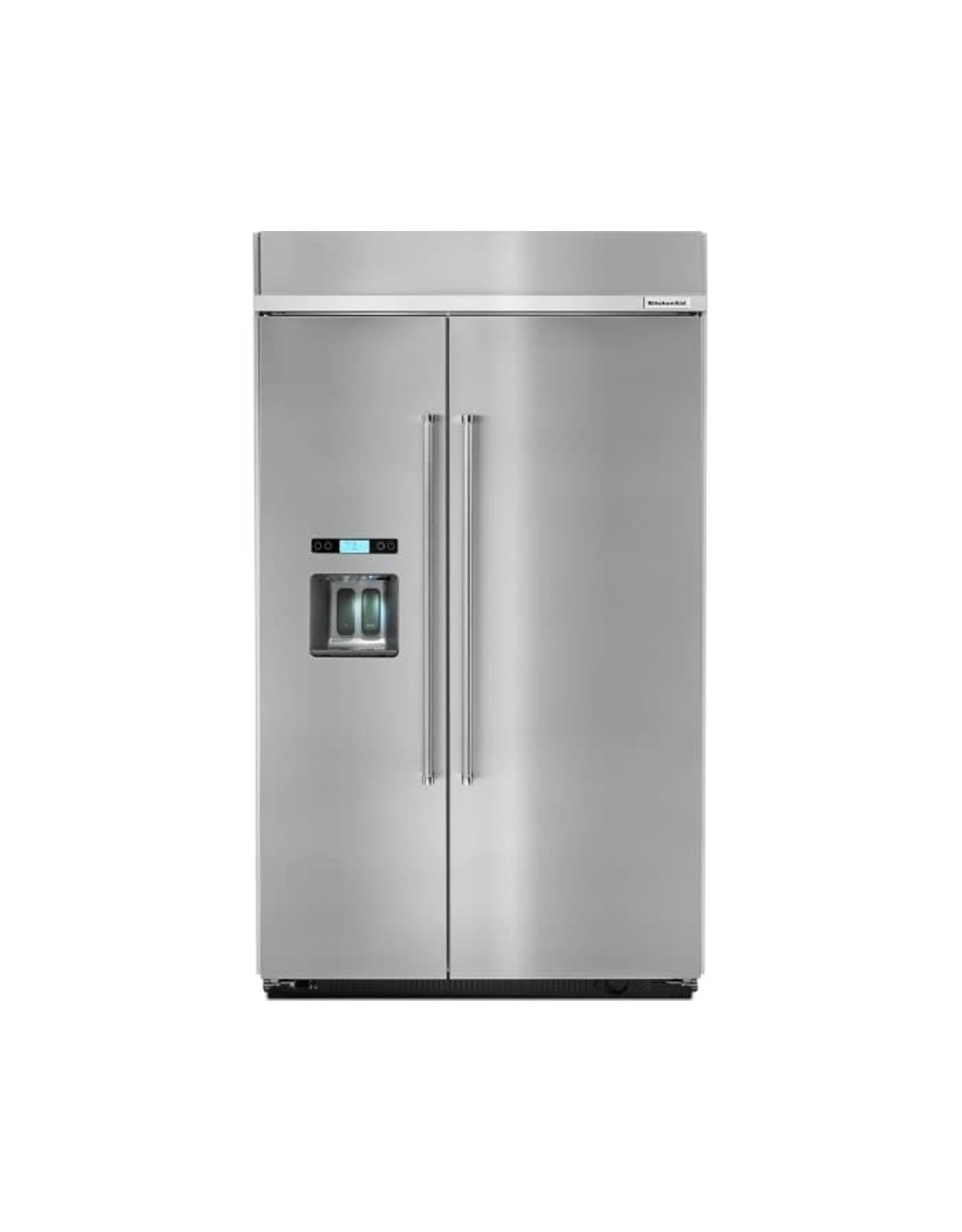 "KBSD608ESS KAD No Frost Side - Built-in Refr Frez - 48"" SXS, STAINLESS STEEL, DISPENSER, ENE"