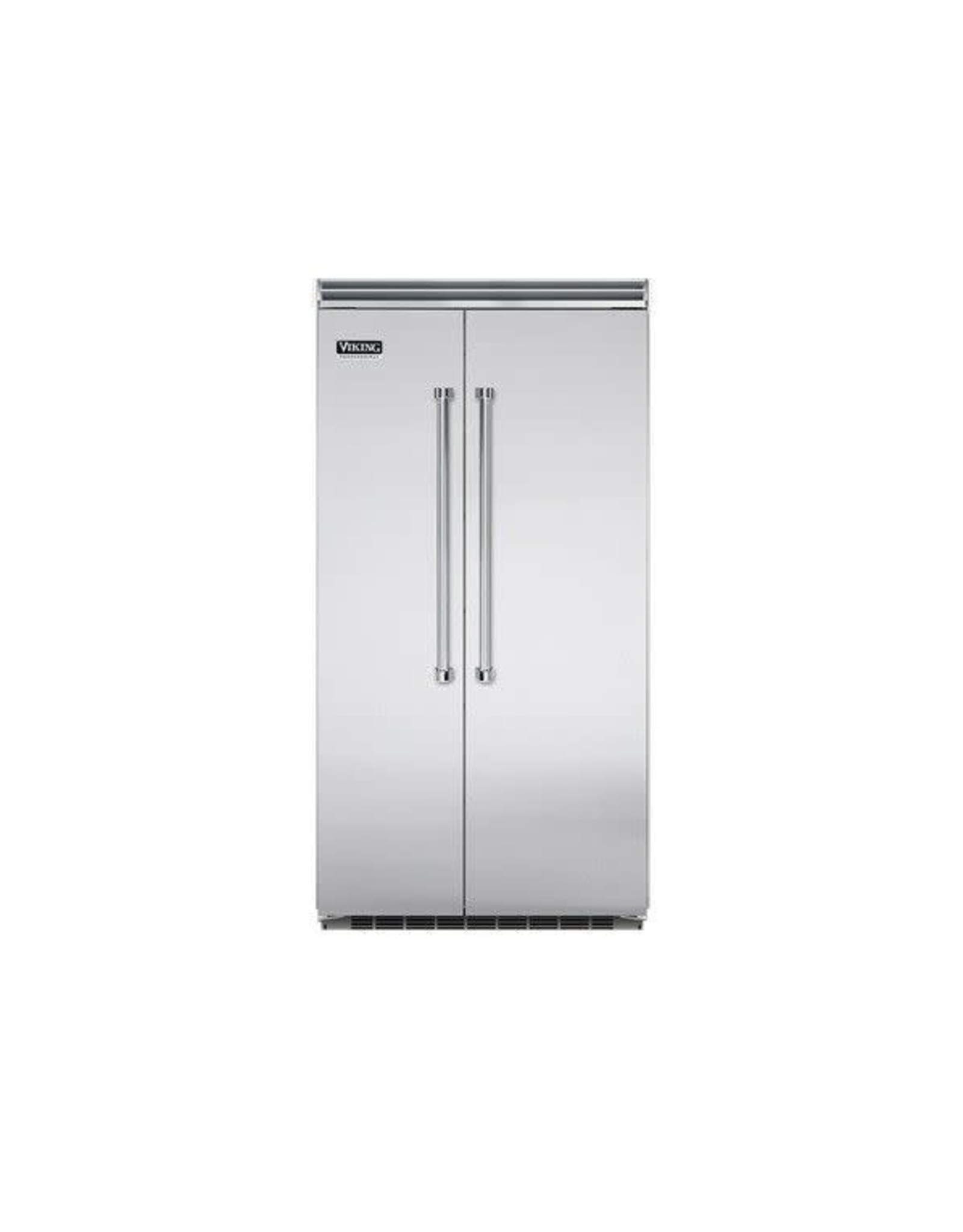 viking VCSB5423SS 42 Inch Built-in Side by Side Refrigerator with 25.3 cu. ft. Capacity, Spillproof Adjustable Glass Shelves, Adjustable Aluminum Door Bins, 2 Humidity Zones, 2 Deli Drawers, Odor Eliminator Evaporator, Air Purifier, Sabbath Mode and ENERGY STAR: