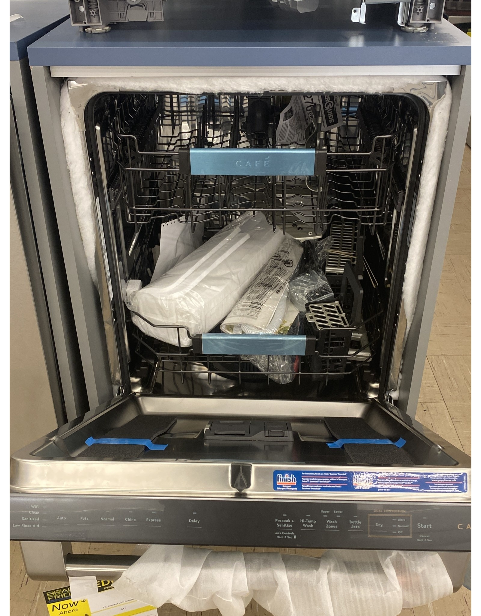 GE Cafe' CDT855P2NS1 AS IS Smart Top Control Tall Tub Dishwasher in Stainless Steel with Stainless Steel Tub, 42 dBA