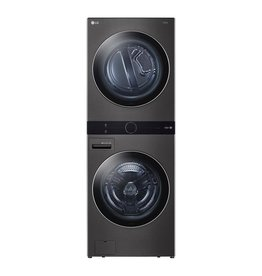 LG Electronics WKEX200HBA 27 in. Black Steel WashTower Laundry Center with 4.5 cu. ft. Front Load Washer and 7.4 cu. ft. Electric Dryer