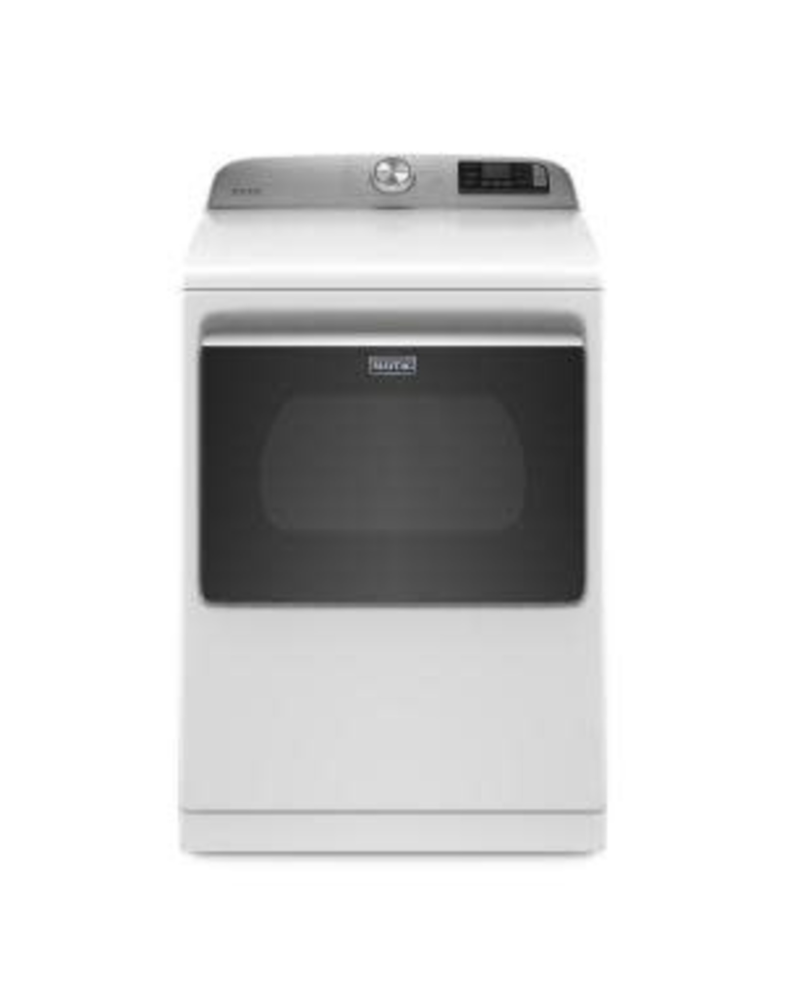 MAYTAG MED7230HW 7.4 cu. ft. 240-Volt Smart Capable White Electric Vented Dryer with Hamper Door and Steam, ENERGY STAR