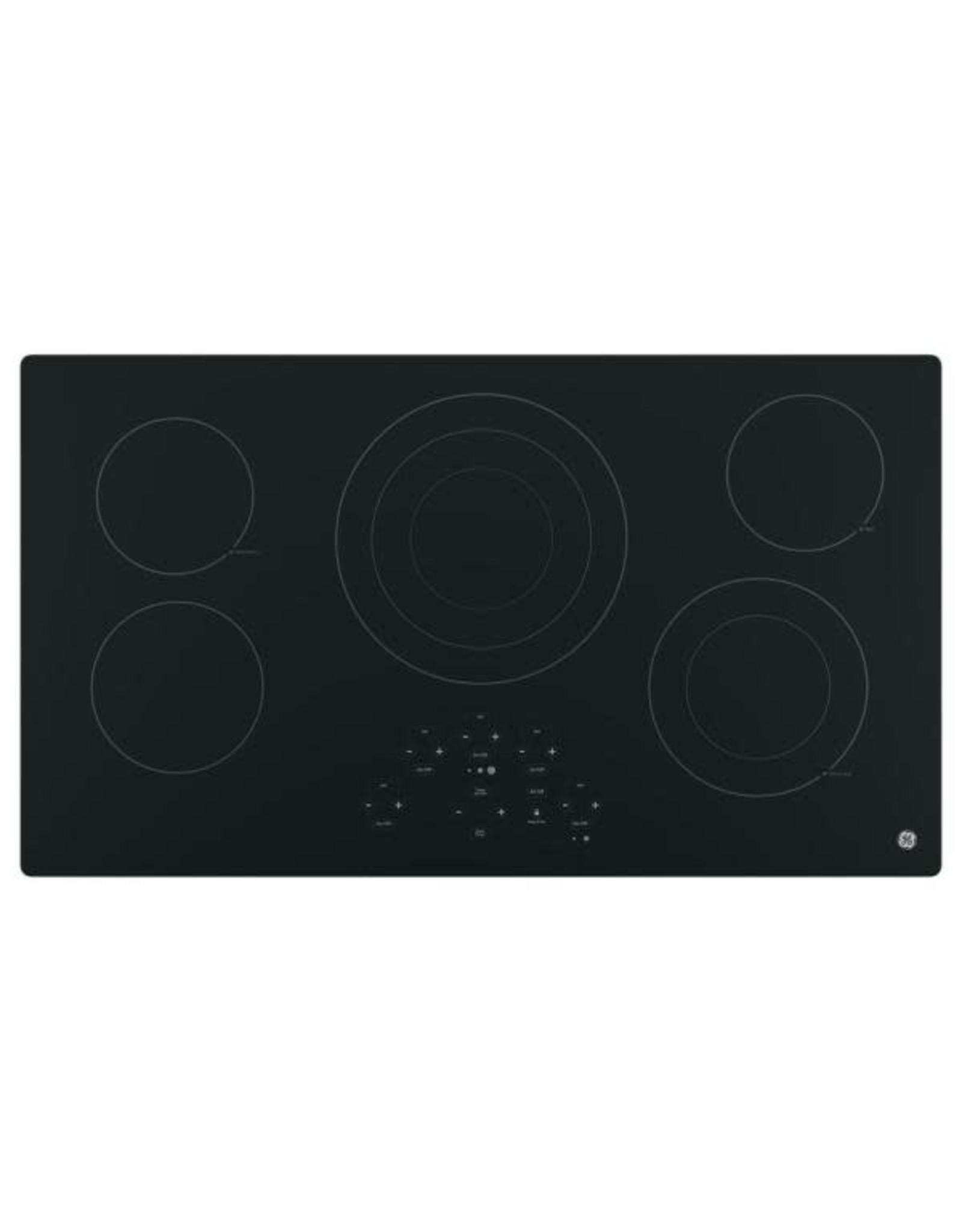 GE JP5036DJBB 36 in. Radiant Electric Cooktop in Black with 5 Elements Including Power Boil