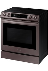 SAMSUNG NE63T8711ST 6.3 cu. ft. Slide-In Electric Range with Air Fry Convection Oven in Fingerprint Resistant Tuscan Stainless Steel