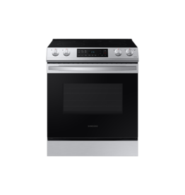 SAMSUNG NE63T8111SS 30 in. 6.3 cu. ft. Slide-In Electric Range with Self-Cleaning Oven in Stainless Steel