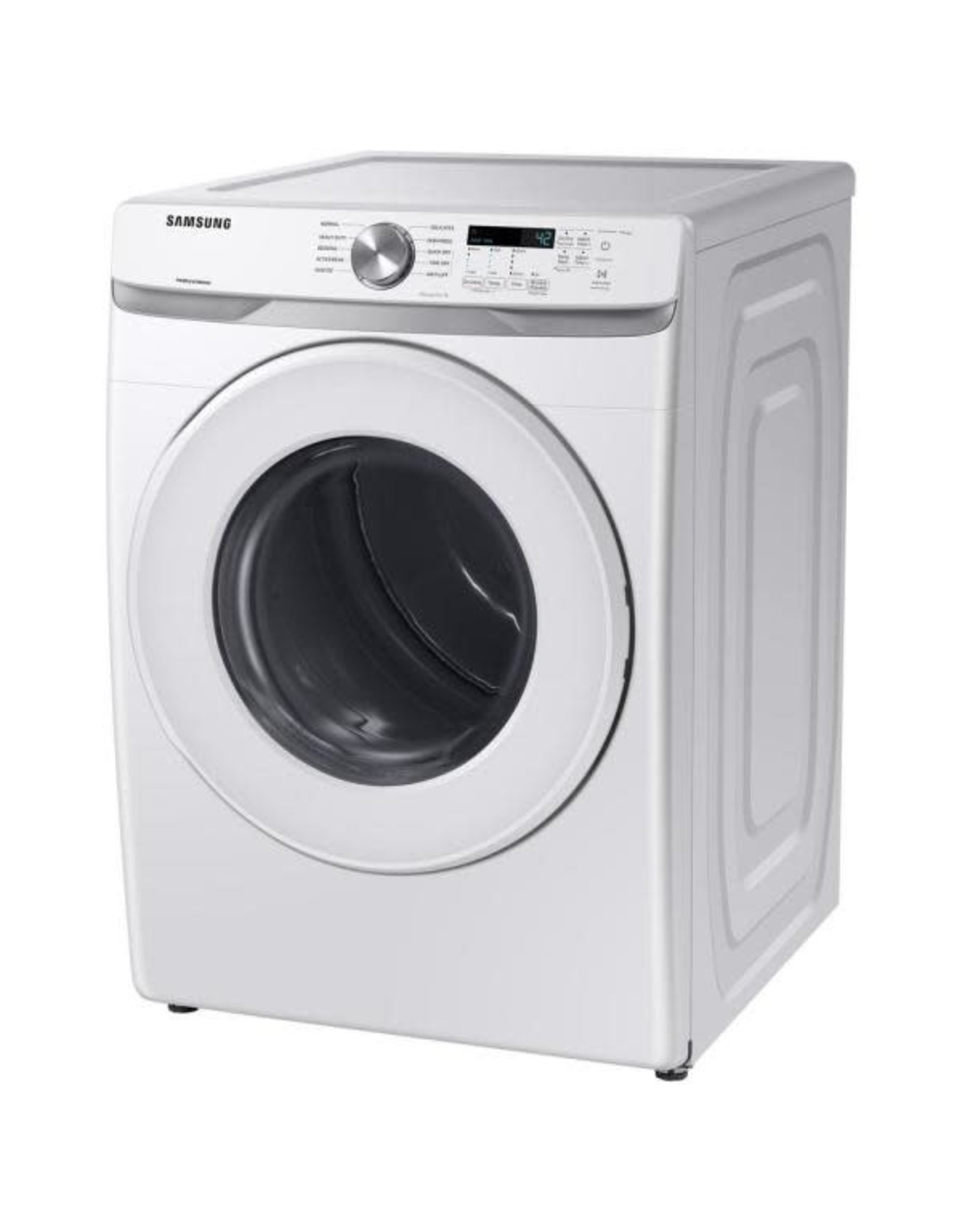 SAMSUNG DVE45T6000W Samsung 7.5 cu. ft. 240-Volt White Electric Dryer with Sensor Dryer (Pedestals Sold Separately)