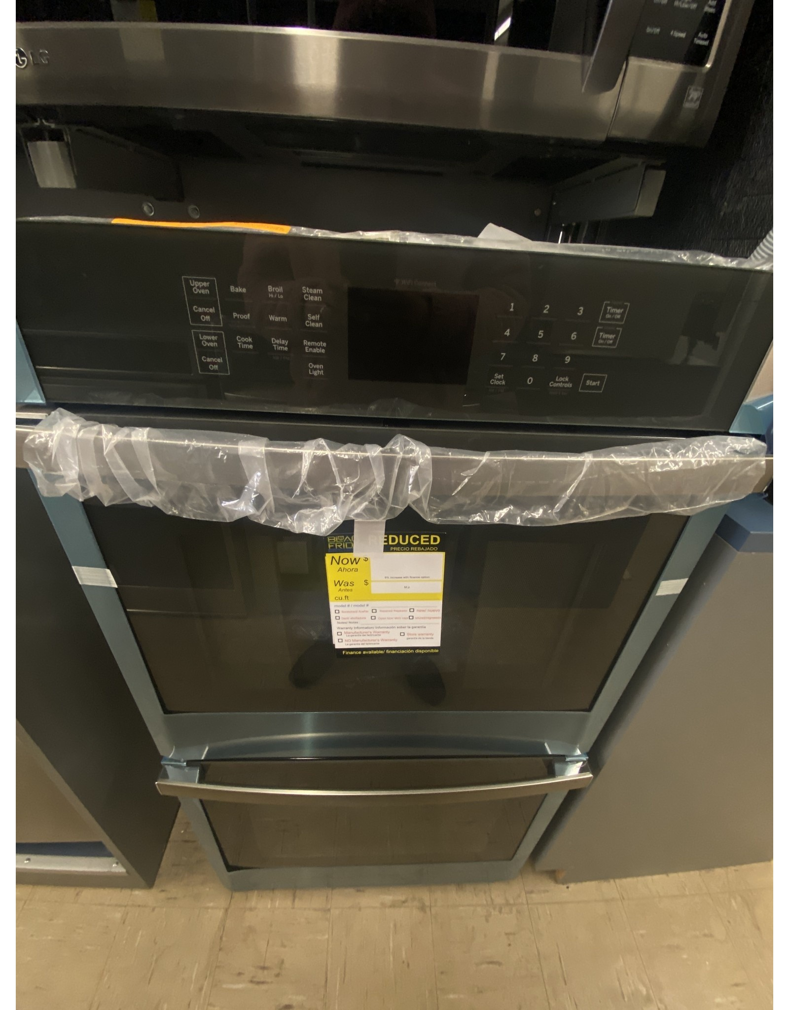 GE JKD3000SNSS 27 in. Smart Double Electric Wall Oven Self-Cleaning with Steam in Stainless Steel