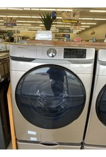 SAMSUNG WF45R6100 AC 4.5 cu. ft. High-Efficiency Champagne Front Load Washing Machine with Steam, ENERGY STAR