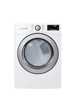LG Electronics DLEX3700W 7.4 cu. ft. Smart Stackable Front Load Electric Dryer with TurboSteam, Sensor Dry, Pedestal Compatible in White