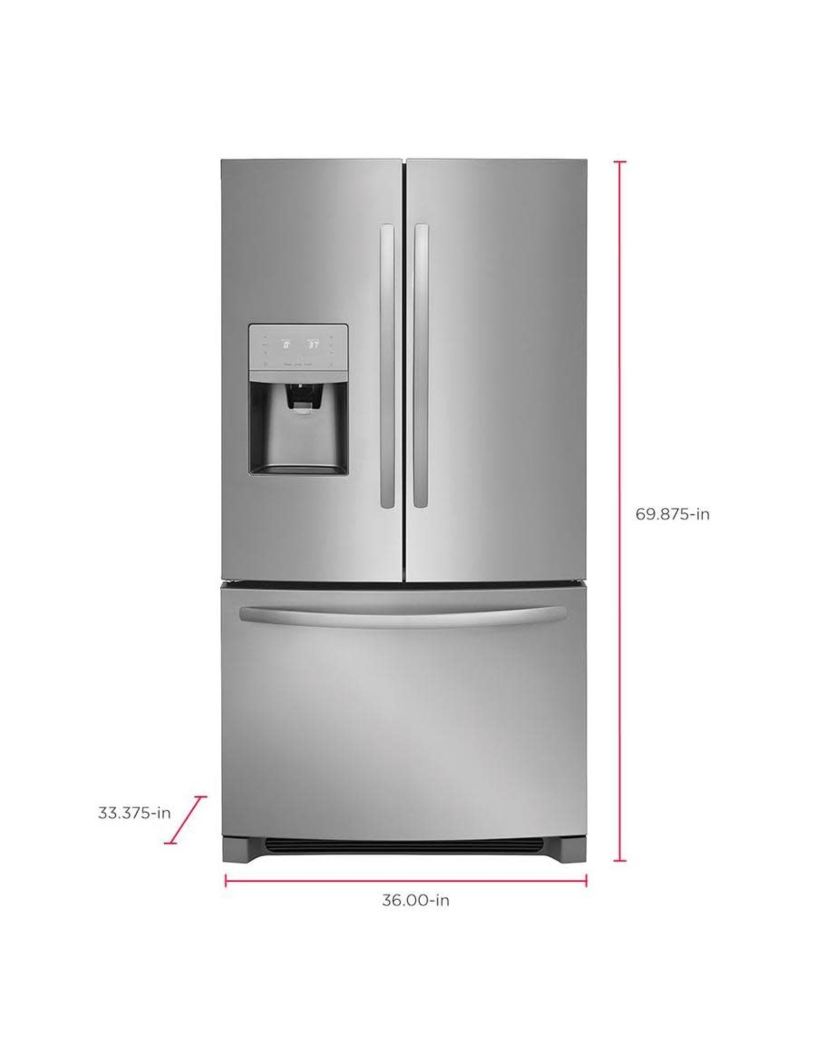FRIGIDAIRE LFHB2751TF8 26.8-cu ft French Door Refrigerator with Ice Maker (EasyCare Stainless Steel) ENERGY STAR
