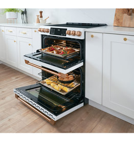 Cafe' CHS950P2MS1 6.7 cu. ft. Smart Slide-In Double Oven Induction Range with Self-Cleaning and Convection Lower Oven in Stainless Steel