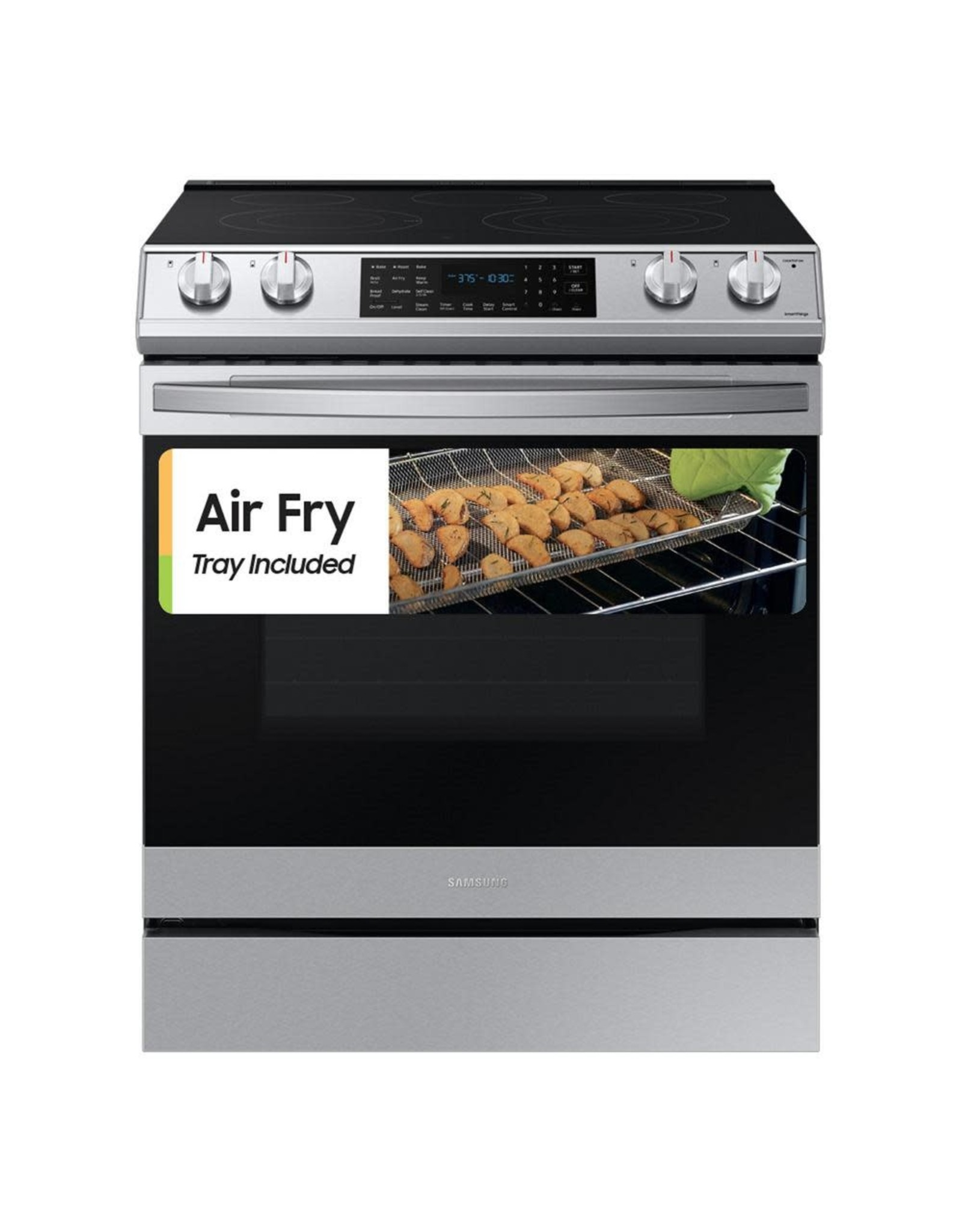 SAMSUNG NE63T8511SS 6.3 cu. ft. Slide-In Electric Range with Air Fry Convection Oven in Fingerprint Resistant Stainless Steel