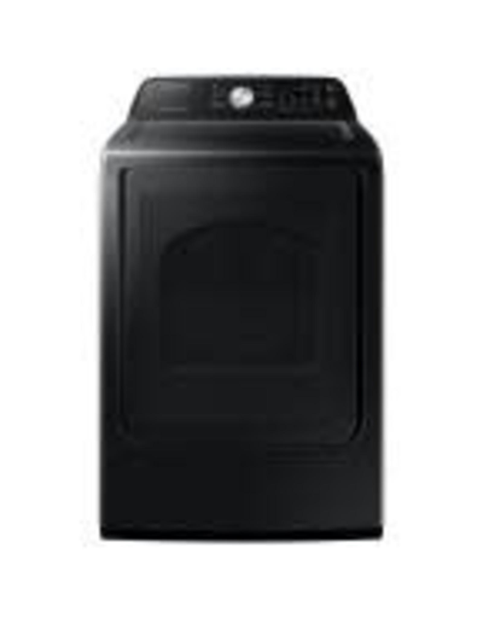 SAMSUNG DVE45T3400V 7.4 cu. ft. 240-Volt Black Stainless Steel Electric Dryer with Sanitize