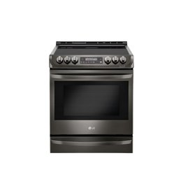 LG Electronics LSE4613BD 6.3 cu. ft. Slide-In Electric Range with ProBake Convection Oven, Self Clean and EasyClean in Black Stainless Steel