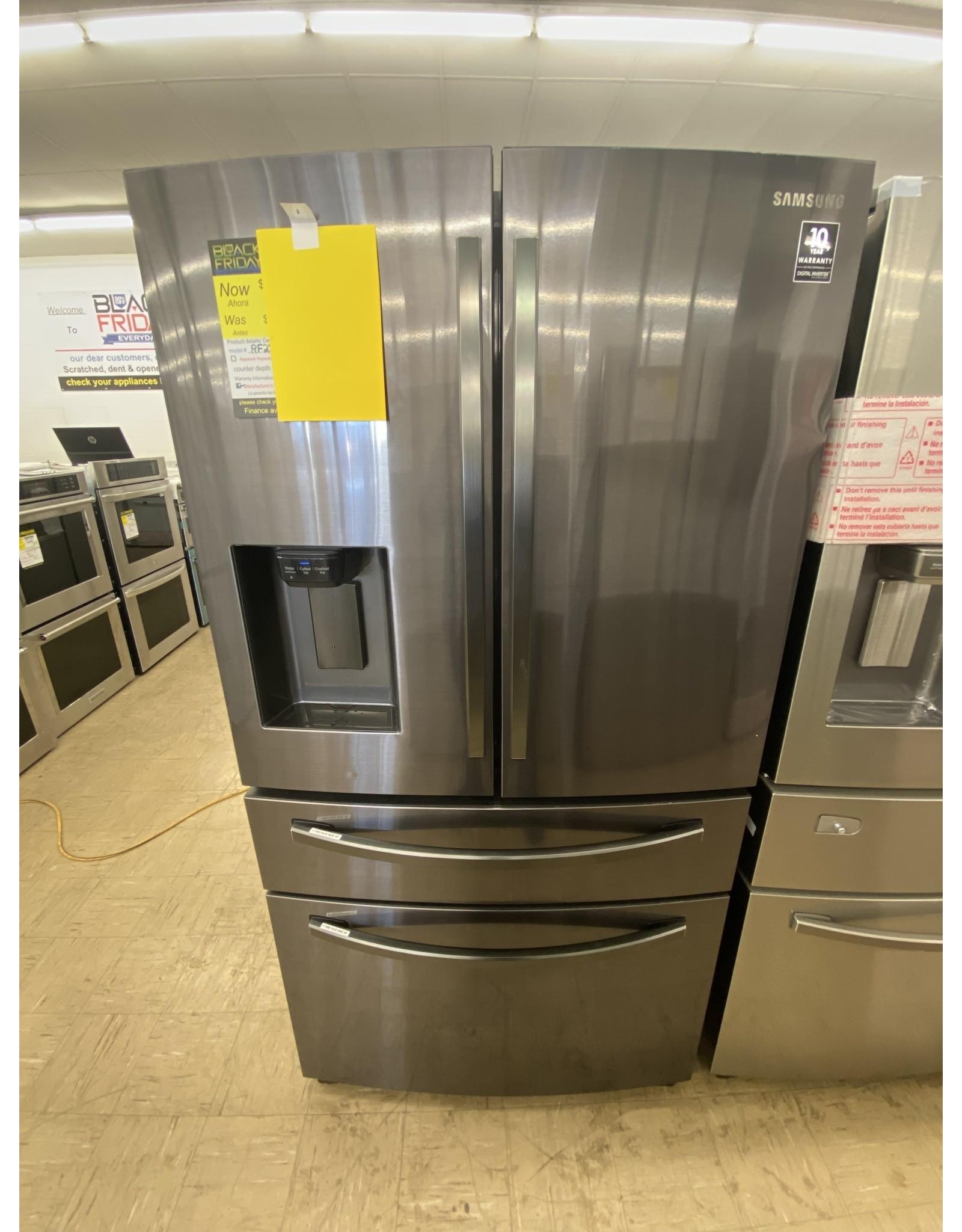 SAMSUNG Samsung 28 cu. ft. 4-Door French Door Refrigerator in Fingerprint Resistant Black Stainless